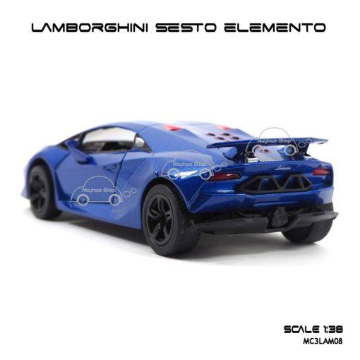 โมเดลรถ LAMBORGHINI SESTO ELEMENTO สีน้ำเงิน (1:38) รถเหล็กราคาถูก