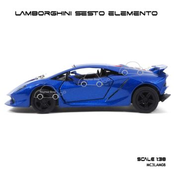 โมเดลรถ LAMBORGHINI SESTO ELEMENTO สีน้ำเงิน (1:38) โมเดลรถประกอบสำเร็จ