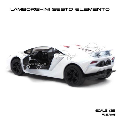 โมเดลรถ LAMBORGHINI SESTO ELEMENTO สีขาว (1:38) ภายในรถเหมือนจริง