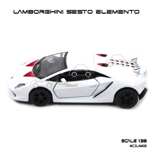 โมเดลรถ LAMBORGHINI SESTO ELEMENTO สีขาว (1:38) โมเดลรถราคาถูก