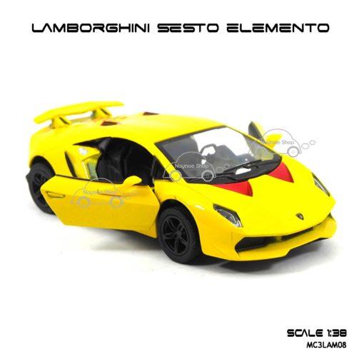 โมเดลรถ LAMBORGHINI SESTO ELEMENTO สีเหลือง (1:38) เปิดประตูรถได้