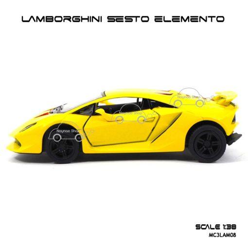 โมเดลรถ LAMBORGHINI SESTO ELEMENTO สีเหลือง (1:38) รถโมเดลเหมือนจริง
