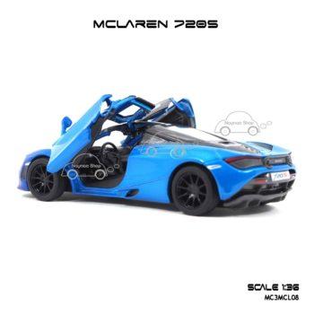 โมเดลรถเหล็ก MCLAREN 720S สีฟ้าทูโทน (1:36) โมเดลจำลองเหมือนจริง