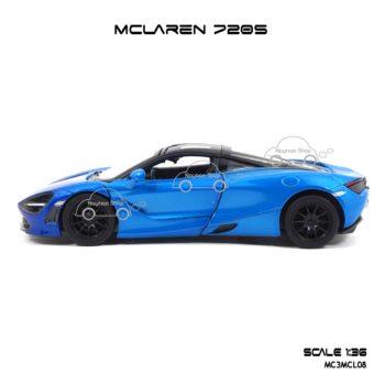 โมเดลรถเหล็ก MCLAREN 720S สีฟ้าทูโทน (1:36) โมเดลประกอบสำเร็จ