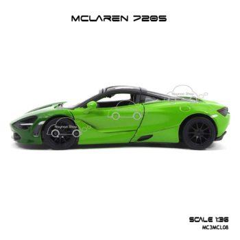 โมเดลรถเหล็ก MCLAREN 720S สีเขียวทูโทน (1:36) โมเดลรถเหล็ก ประกอบสำเร็จ