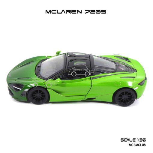 โมเดลรถเหล็ก MCLAREN 720S สีเขียวทูโทน (1:36) รถโมเดลเหมือนจริง