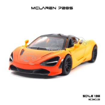 โมเดลรถเหล็ก MCLAREN 720S สีส้มทูโทน (1:36)