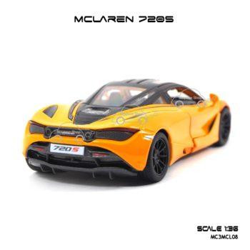 โมเดลรถเหล็ก MCLAREN 720S สีส้มทูโทน (1:36) ประกอบสำเร็จ
