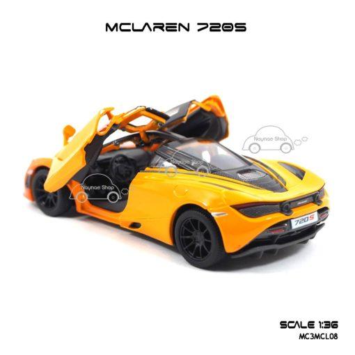 โมเดลรถเหล็ก MCLAREN 720S สีส้มทูโทน (1:36) โมเดลจำลองเหมือนจริง