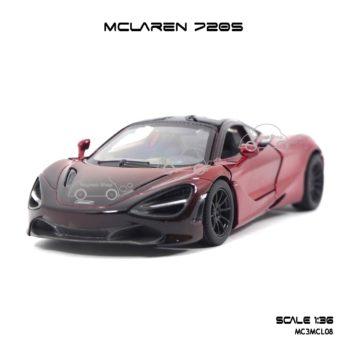 โมเดลรถเหล็ก MCLAREN 720S สีแดงทูโทน (1:36) รถโมเดลเหมือนจริง