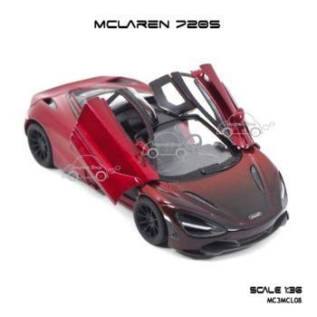 โมเดลรถเหล็ก MCLAREN 720S สีแดงทูโทน (1:36) เปิดประตูซ้ายขวาได้