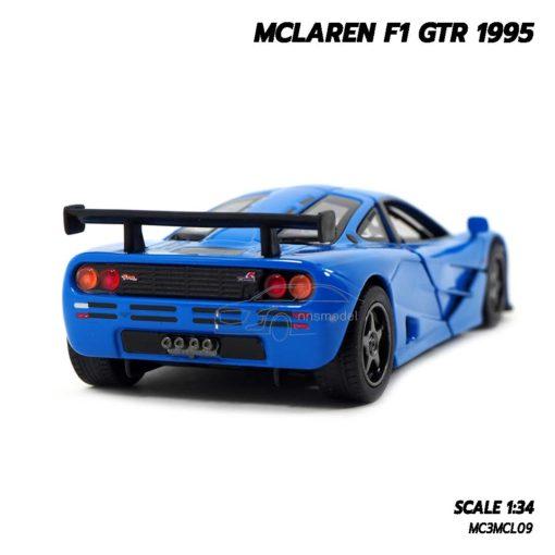 โมเดลรถ MCLAREN F1 GTR 1995 สีน้ำเงิน (1:34) โมเดลรถเหล็ก ราคาถูก