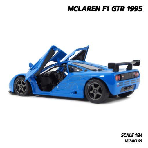 โมเดลรถ MCLAREN F1 GTR 1995 สีน้ำเงิน (1:34) โมเดลรถเหล็ก ภายในรถเหมือนจริง