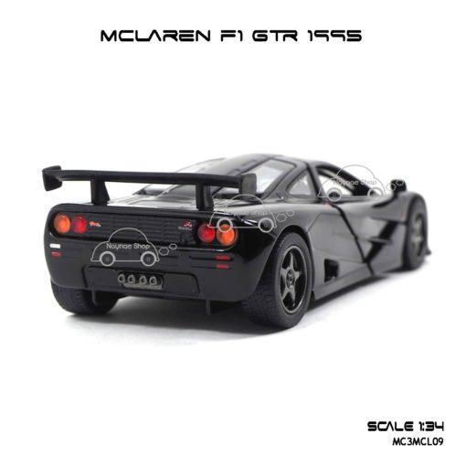 โมเดลรถเหล็ก MCLAREN F1 GTR 1995 สีดำ (1:34) สปอยเลอร์สวยๆ