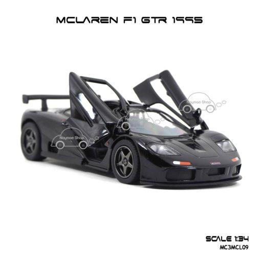 โมเดลรถเหล็ก MCLAREN F1 GTR 1995 สีดำ (1:34) เปิดประตูปีกนก เท่ห์ๆ