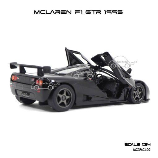 โมเดลรถเหล็ก MCLAREN F1 GTR 1995 สีดำ (1:34) ภายในรถเหมือนจริง