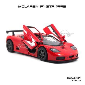 โมเดลรถเหล็ก MCLAREN F1 GTR 1995 สีแดง (1:34) รถจำลองเหมือนจริง