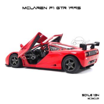โมเดลรถเหล็ก MCLAREN F1 GTR 1995 สีแดง (1:34) รถเหล็กเหมือนจริง