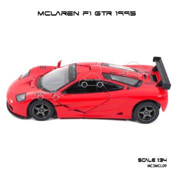 โมเดลรถเหล็ก MCLAREN F1 GTR 1995 สีแดง (1:34) รถของเล่นราคาถูก