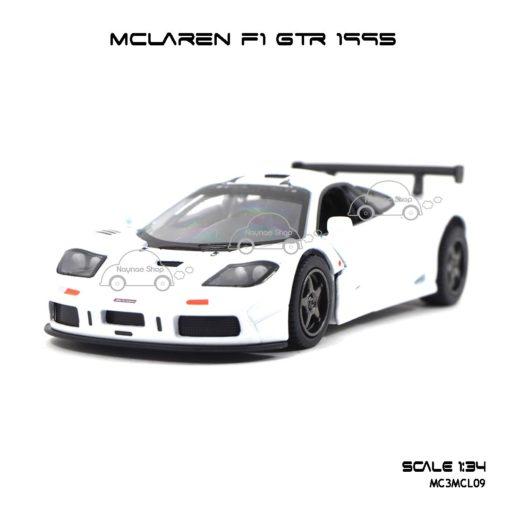 โมเดลรถเหล็ก MCLAREN F1 GTR 1995 สีขาว (1:34) รถของเล่นราคาถูก