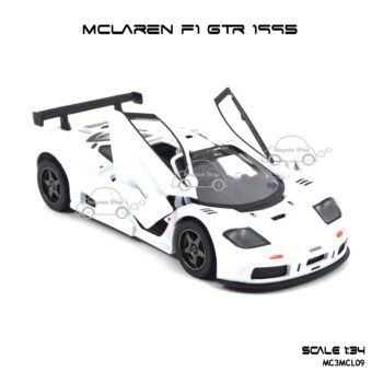 โมเดลรถเหล็ก MCLAREN F1 GTR 1995 สีขาว (1:34) รถเหล็ก มีรุ่นให้เลือกเยอะ
