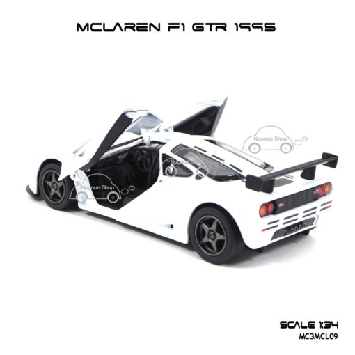 โมเดลรถเหล็ก MCLAREN F1 GTR 1995 สีขาว (1:34) รถโมเดล มีรุ่นให้เลือกเยอะ