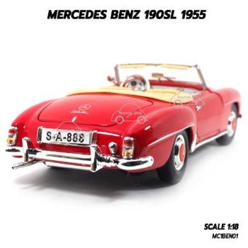 โมเดลรถเบนซ์ MERCEDES BENZ 190SL 1955 (1:18) รถคลาสสิคสวยๆ