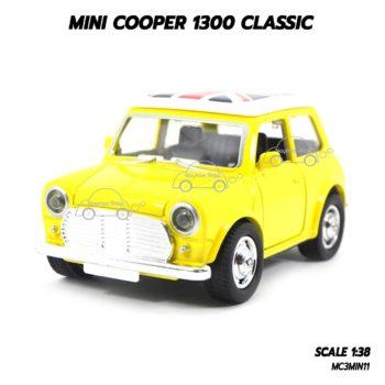 โมเดล รถคลาสสิค MINI COOPER 1300 CLASSIC สีเหลือง (1:38)