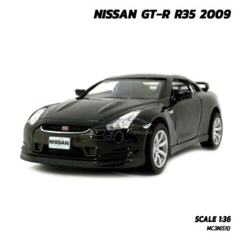 โมเดลรถเหล็ก NISSAN GT-R R35 2009 สีดำ (Scale 1:36)