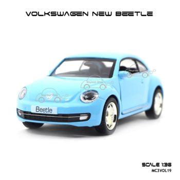 โมเดลรถ VOLKSWAGEN NEW BEETLE สีฟ้า (1:36)