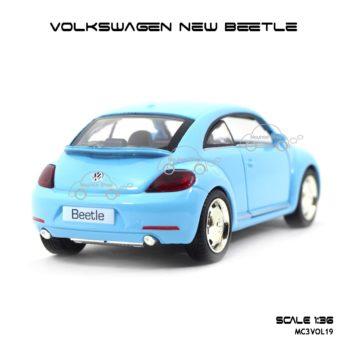 โมเดลรถ VOLKSWAGEN NEW BEETLE สีฟ้า (1:36) สีหวานน่ารัก น่าสะสม