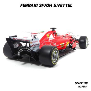 โมเดล F1 FERRARI SF70H S.VETTEL (1:18) รุ่นหายาก น่าสะสม