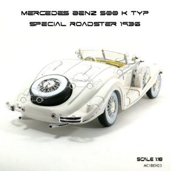 โมเดลรถ MERCEDES BENZ 500 K TYP SPECIAL ROADSTER 1936 (1:18) ท้ายรถสวยๆ