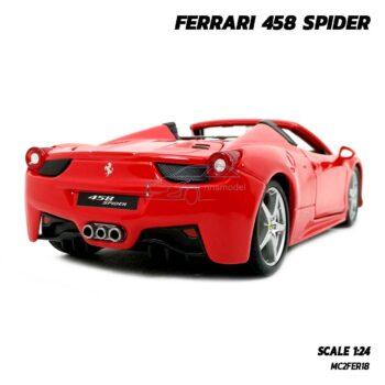 รถโมเดล เฟอร์รารี่ FERRARI 458 SPIDER (Scale 1:24) โมเดลรถ รุ่นน่าสะสม พร้อมตั้งโชว์