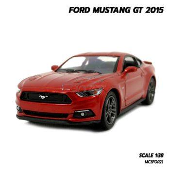 โมเดลฟอร์ด มัสแตง Ford Mustang GT 2015 สีน้ำตาลแดง (Scale 1:38) โมเดลรถเหล็ก รุ่นขายดี