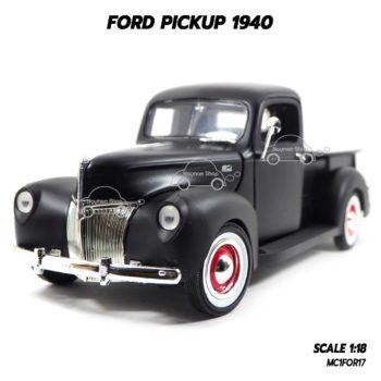โมเดลรถกระบะ FORD PICKUP 1940 สีดำด้าน (1:18)