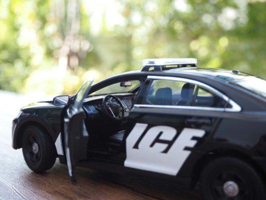 โมเดลรถตำรวจ FORD INTERCEPTOR (1:24) ภายในรถเหมือนจริง