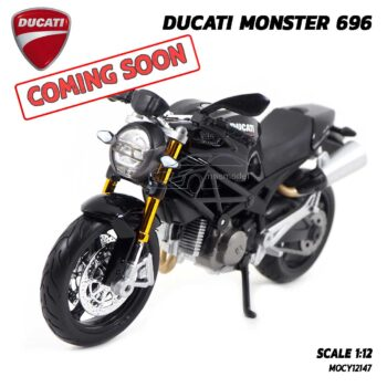 โมเดลรถบิ๊กไบค์ DUCATI MONSTER 696 สีดำ (Scale 1:12) สินค้าเข้าใหม่