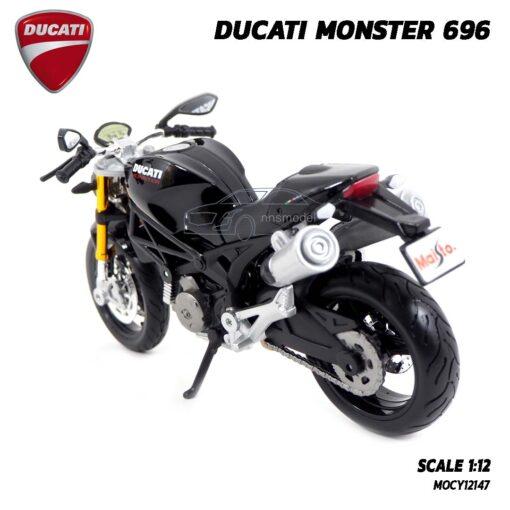 โมเดลรถบิ๊กไบค์ DUCATI MONSTER 696 สีดำ (Scale 1:12) โมเดล ducati ของแท้ ผลิตโดย Maisto