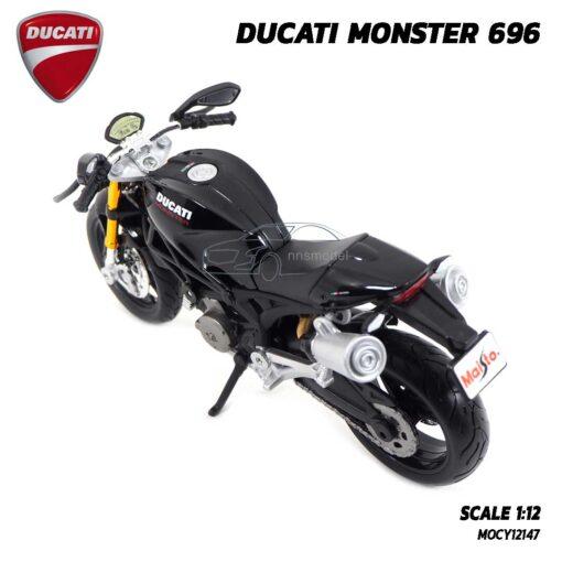 โมเดลรถบิ๊กไบค์ DUCATI MONSTER 696 สีดำ (Scale 1:12) โมเดล ducati ของแท้ พร้อมตั้งโชว์