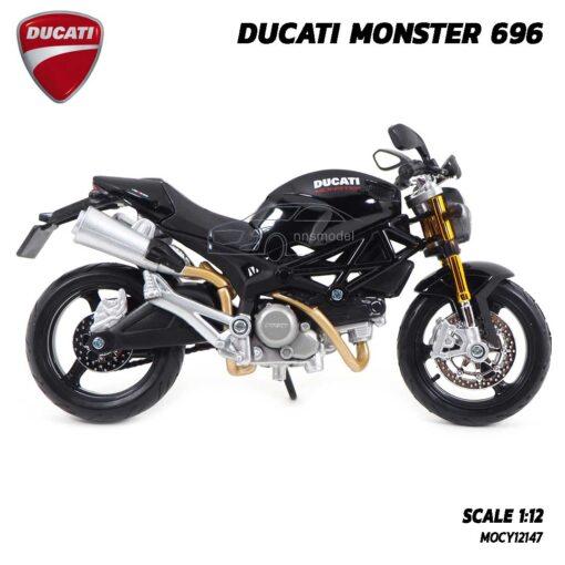 โมเดลรถบิ๊กไบค์ DUCATI MONSTER 696 สีดำ (Scale 1:12) โมเดล ducati รุ่นขายดี ของขวัญ ของสะสม
