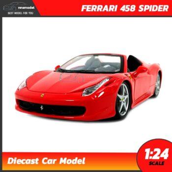 โมเดลรถ เฟอร์รารี่ FERRARI 458 SPIDER สีแดง (1:24)