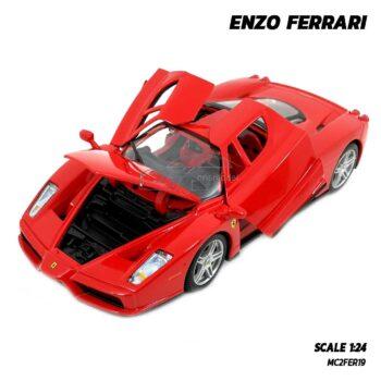 โมเดลรถ เฟอร์รารี่ FERRARI ENZO (Scale 1:24) รถเหล็กจำลอง เปิดประตูปีกนกได้