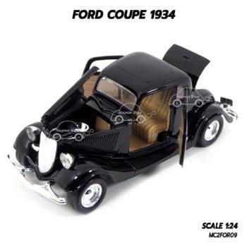 โมเดลรถ FORD COUPE 1934 สีดำ (1:24) เปิดประตูรถซ้ายขวาได้