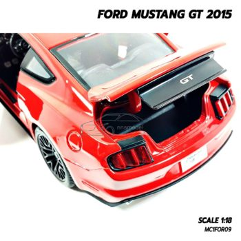 โมเดลมัสแตง FORD MUSTANG GT 2015 สีแดง (Scale 1:18) เปิดฝากระโปรงท้ายได้
