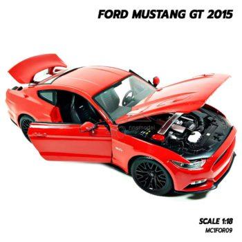 โมเดลมัสแตง FORD MUSTANG GT 2015 สีแดง (Scale 1:18) โมเดลรถประกอบสำเร็จ พร้อมตั้งโชว์