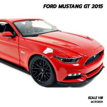 โมเดลมัสแตง FORD MUSTANG GT 2015 สีแดง (Scale 1:18) โมเดลรถเหมือนจริง น่าสะสม