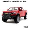 โมเดลรถกระบะ Chevrolet Colorado ZR2 2017 สีแดง (1:27)