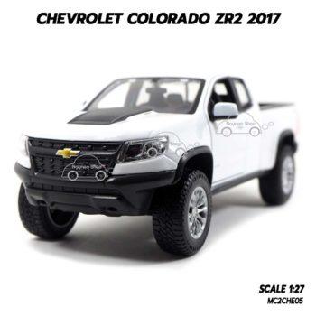 โมเดลรถปิคอัพ Chevrolet Colorado ZR2 2017 สีขาว (1:27)