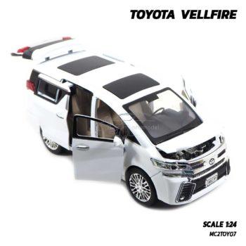 โมเดลรถตู้ TOYOTA VELLFIRE สีขาว (1:24) เปิดได้ครบ มีเสียงมีไฟ